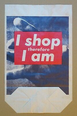 Barbara Kruger, I shop therefore I am, Photolithograph on shopping bag, Ltd. Ed.