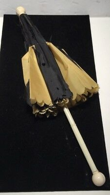 Rare 1858 Excellsor Small Carriage Silk Parasol with Bone Handle