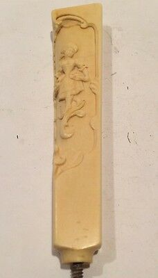 Antique Carved Composite/Bone Parasol Cane / Walking Stick Handle