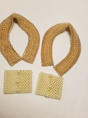 4- Vintage Retro Faux Pearl Beads Beaded Collar Sweater Choker  Cuff Accessory