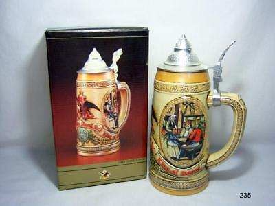 Anheuser-Busch Budweiser Lidded Limited Edition IV Stein from 1987 -With Box