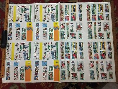 Vintage Large Citroen Cartoon Images Dealer Advertising Poster Double Sided 60s