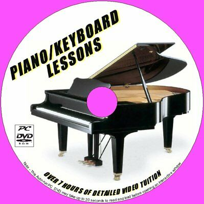 Piano / Keyboard Lessons Beginners Learning Pc Dvd 7+ Hours Of Simple Tuition