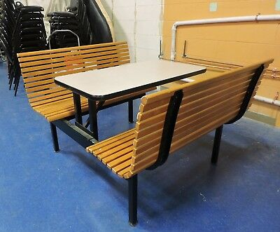Wood Bench Seat and Table Set