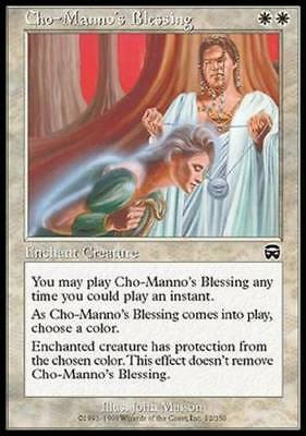1x CHO-MANNO'S BLESSING - Rare - Mercadian Masq - MTG - NM - Magic the Gathering