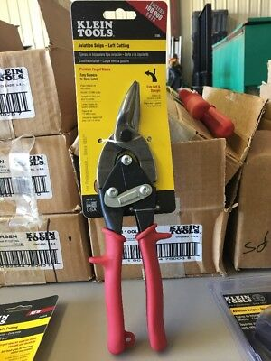 baa20fe391a Klein Tools Left Cutting Aviation Snips Pliers Steel Blades Spring-Loaded  Tool