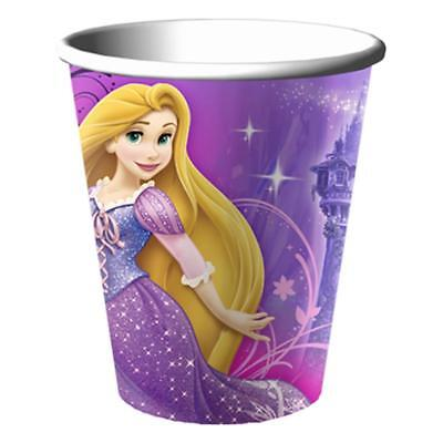 Disney Rapunzel Tangled Sparkle 9 oz Paper Cups Birthday Party Supplies New