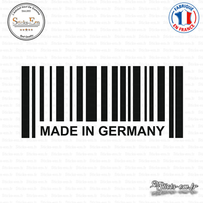 Sticker Code Barre Made in Germany Decal Aufkleber Pegatinas D-303