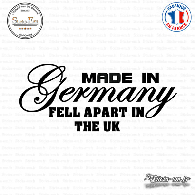 Sticker Made in Germany Decal Aufkleber Pegatinas D-312 Couleurs au choix