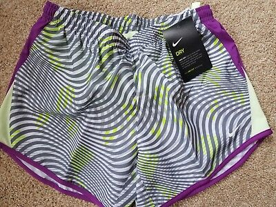 NWT Girls Youth Nike Shorts - Purple & Gray  - Ships Free - Med or Small