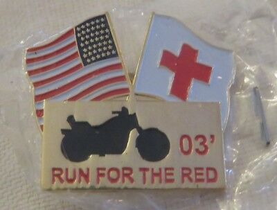 American Red Cross Run For The Red 2003  Pin  Rc017