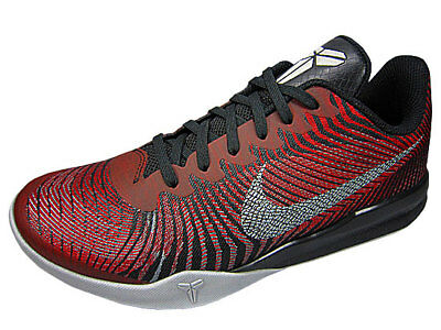 Nike KB Mentality II (Kobe) Black Silver Red 818952 002 Men's SZ-13