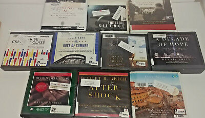 Non Fiction Audio Books Lot of 10 on CD FREE SHIPPING Unabridged A-38