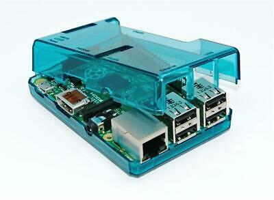 Blue Transparent  Case for Raspberry Pi 3 Model B Access to all ports