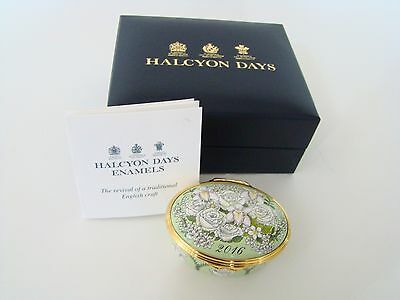 Halcyon Days Enamel Annual Year Box 2016 with box and COA NEW MINT