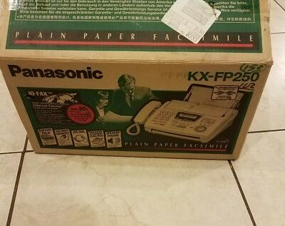 Panasonic KX-FP250 Compact Plain Paper Fax / Copier IQ-FAX Mint condition