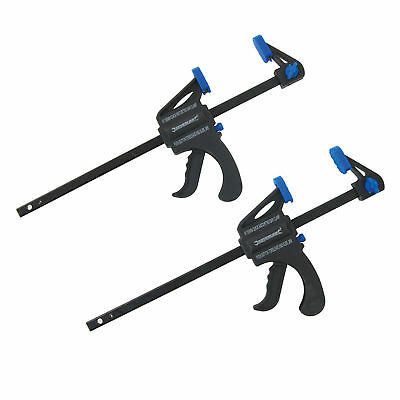 """2-PACK-x-150mm - 6"""" QUICK-RELEASE-RATCHET-BAR-CLAMP-STRONG- LIGHT WEIGHT CLAMPS"""