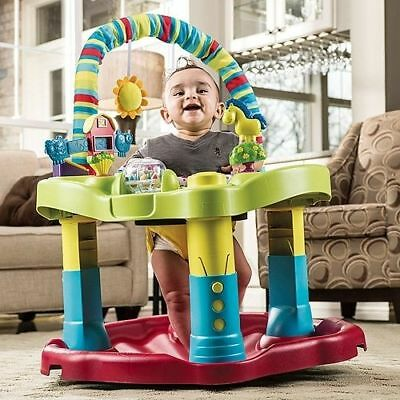 Baby Bouncin Barnyard Safe Alternative Activity Walker Toddlers Play Exerciser