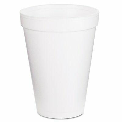 Dart Container Corp. 12J12 Foam Cups, 12 oz., White Pack of 1000