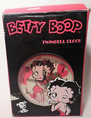 Betty Boop Twinbell Clock with box