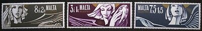 Christmas stamps, Angels, Malta, 1972, SG ref: 482-484, 3 stamp set, MNH