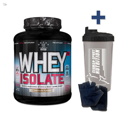 100% Whey Isolate Cfm Bianco D' Uovo in Polvere 4000g Proteine Shake 4 kg / Iso