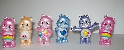 "Care Bears, Cake Toppers,  Party Favors Goody Bag Fillers Set of (6) 2"" Figures"