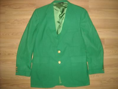 Vtg Mens 42 R Green Suit Blazer St Patricks Day Two Button Stafford Jacket