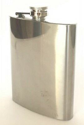 New Stainless Steel FLASK Screw Cap Hip Pocket Alcohol Liquor Whiskey Party 8 oz
