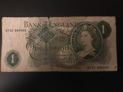 1970 Bank Of England  1 Pound Note
