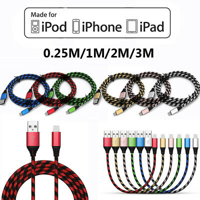 Premium Strong Braided USB Sync Data Fast Charging Cable For iPhone 5 6 7 8 Plus