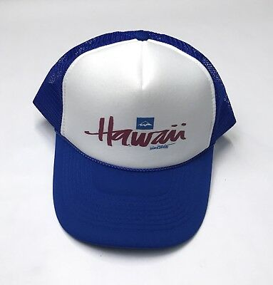 f600e7b448eae3 HAWAII DOUBLE SNAPBACK Hat VTG Green Cap Foam Front Hi State Islands ...