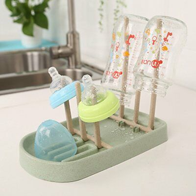 Detachable Drying Rack Baby Bottle Dryer Solid Feeding Bottle Stand Holder BU