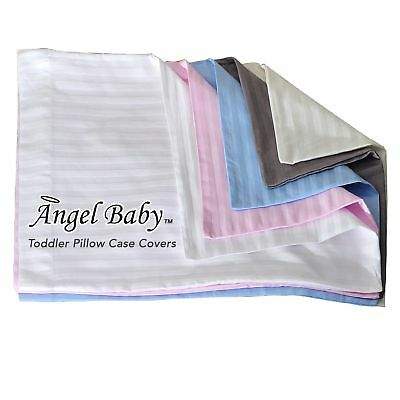 Angel Baby Toddler Pillow Case Cover - BLUE, 100% NATURAL Cotton Percale, 400...