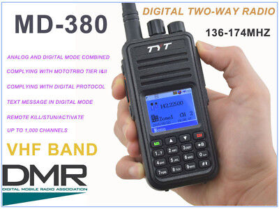 TYT TYTERA MD-380 Handheld Analog+Digital Radio (VHF model; covers 2m Ham Band)