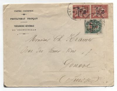 Morocco FRENCH PROTECTORATE TO Switzerland COVER 1915
