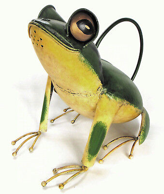 Watering Cans - Fanciful Frog Metal Watering Can - Garden Decor