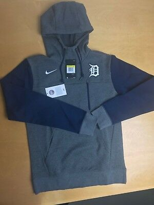separation shoes 6158c 333ce NIKE MLB DETROIT Tigers Pullover Hoodie Dark Grey, Navy Blue Men's Size  Small