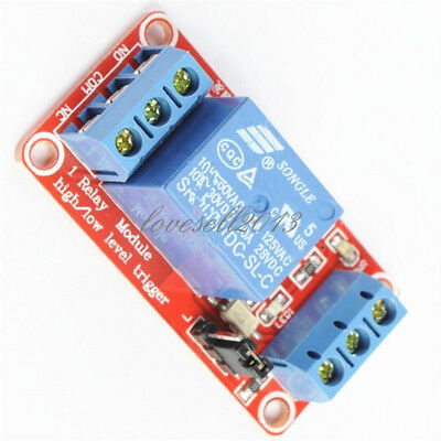 1PCS New 12V 1 Channel Relay Module With OPTO Isolation High Low Level Trigger