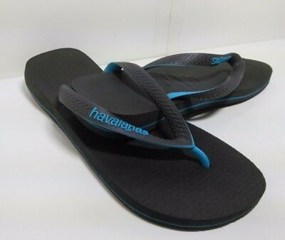 ec5378880 Havaianas Mens Size 9 Blue Signature Textured Flip-Flops Shoes