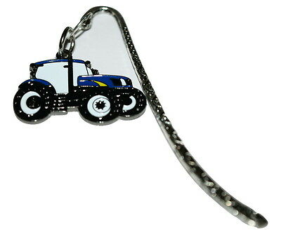Ford New Holland Blue Tractor Bookmark Gift Box Option Farming Enamel Reading