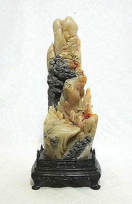 Well Hand Carved Chinese Shou-Shan Stone Boulder   4319