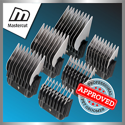 Mastercut Metal Steel Blade Comb Guide Attachments (Fits Oster/Andis/Wahl)