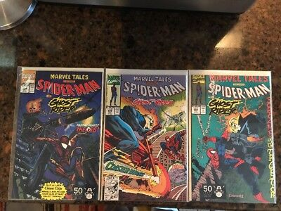 Marvel Tales featuring Spiderman Ghostrider #254 #255 #256 Marvel 3 comic lot