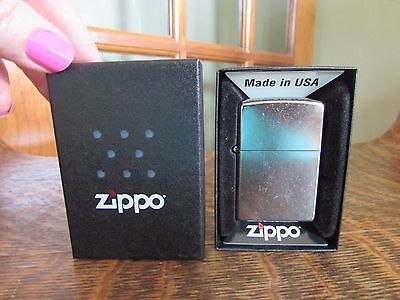 New Zippo Lighter #207 Regular Street Chrome