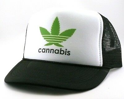 a6bb7b5fb09 Cannabis Trucker Hat mesh hat snapback hat black new adjustable party hat