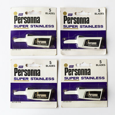 NOS Injector Blades Personna Super Stainless (20) Made in England #Schick