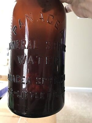 Amber Panacea Mineral Springs Water Bottle From Littleton NC