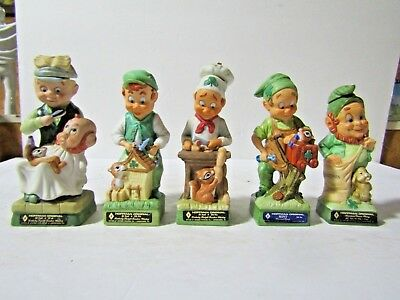Your Choice Of 19 Hoffman Mr Lucky Different Leprechaun Miniature Decanters