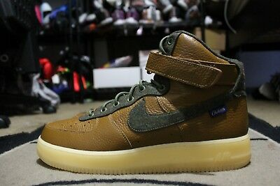 sports shoes 04ad2 4a53e New Nike iD Air Force One 1 Hi Size 13 Glow in the Dark Brown Pendleton